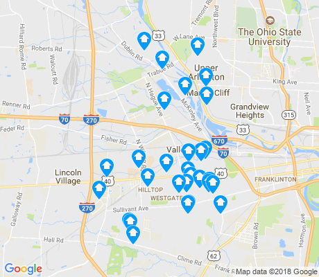 map of 43204 apartments for rent