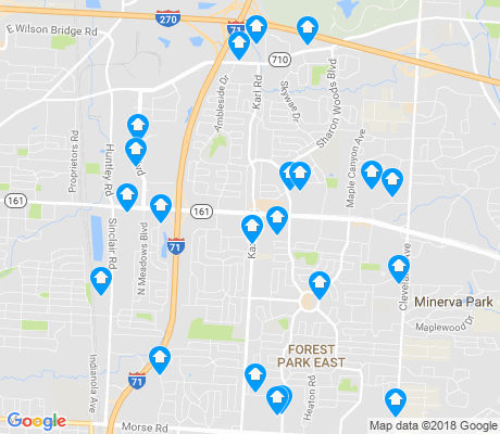 map of 43229 apartments for rent