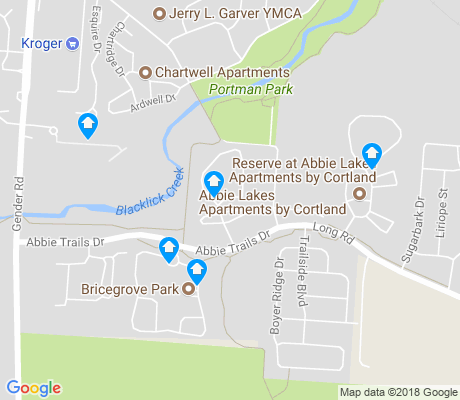 map of Abby Trails apartments for rent