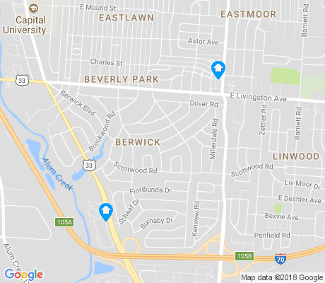 map of Berwick apartments for rent