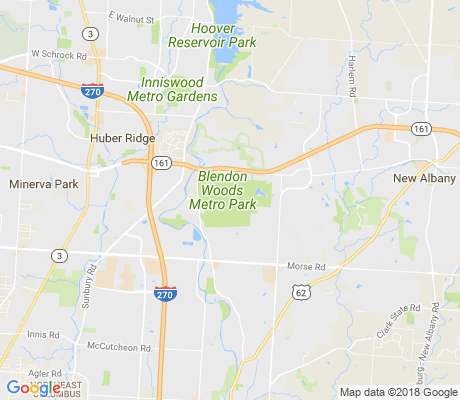 map of Blendon Woods Metro Park apartments for rent
