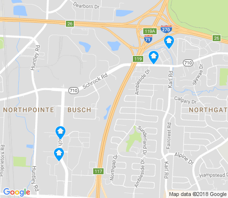 map of Busch apartments for rent