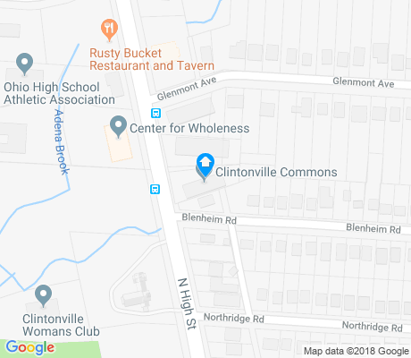 map of Central Clintonville apartments for rent