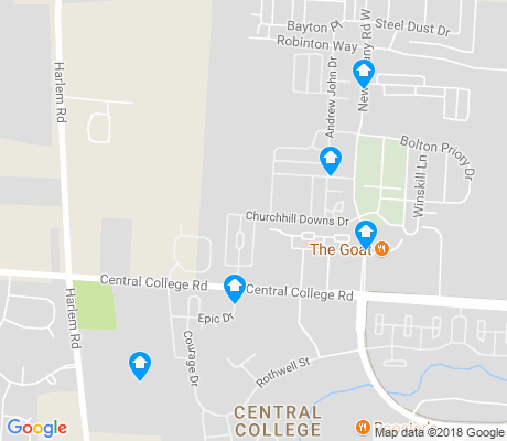 map of Central College apartments for rent