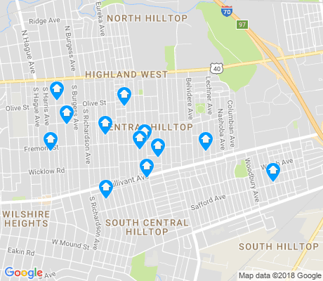 map of Central Hilltop apartments for rent