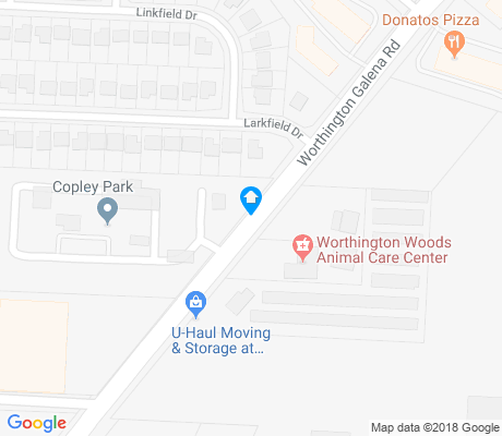 map of Deer Creek apartments for rent