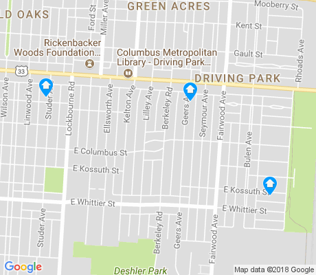 map of Driving Park apartments for rent