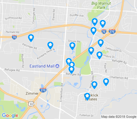 map of Eastland apartments for rent