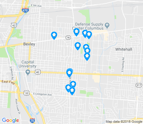 map of Eastmoor apartments for rent