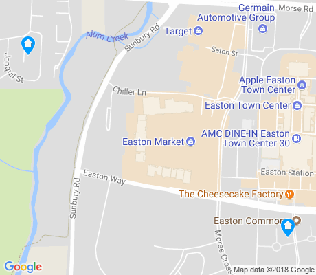map of Easton apartments for rent