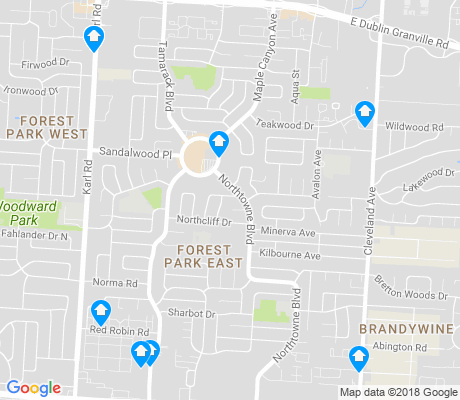 map of Forest Park East apartments for rent