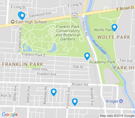 map of Franklin Park apartments for rent