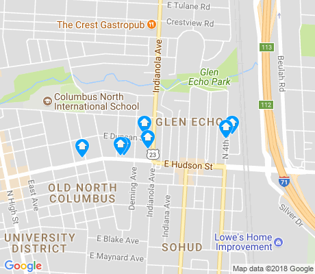 map of Glen Echo apartments for rent