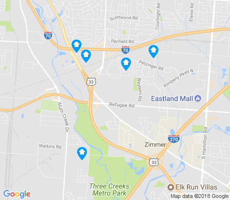 map of Glenbrook apartments for rent