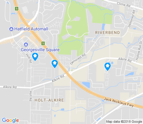 map of Holt-Alkire apartments for rent