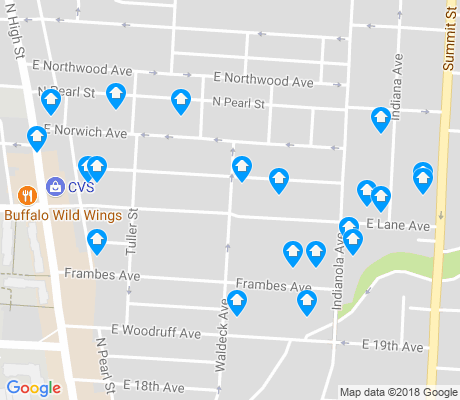 map of Indiana Forest apartments for rent