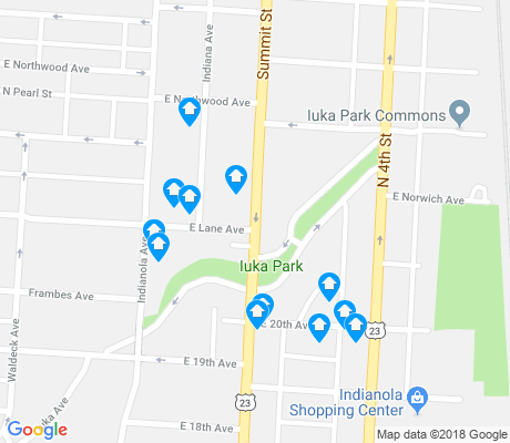 map of Iuka Ravine apartments for rent