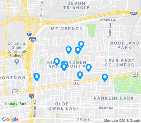 map of King-Lincoln Bronzeville apartments for rent
