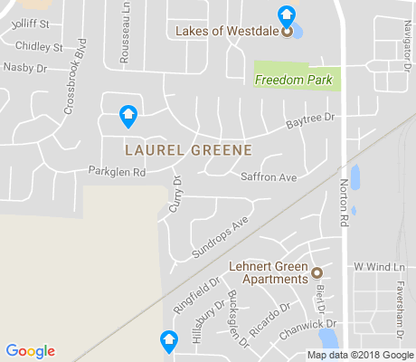 map of Laurel Greene apartments for rent