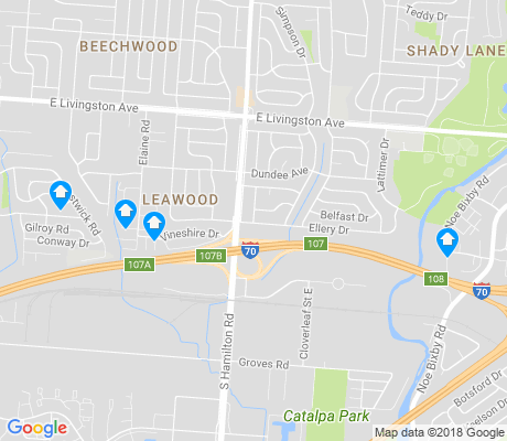 map of Leawood apartments for rent