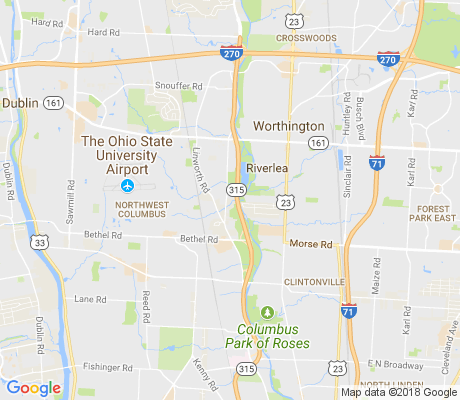 map of Linworth Village apartments for rent