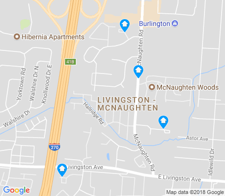 map of Livingston - McNaughten apartments for rent