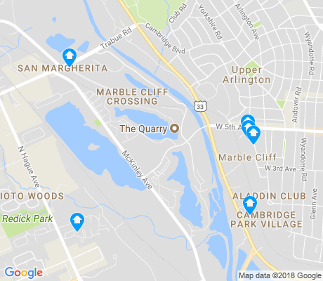 map of Marble Cliff Crossing apartments for rent
