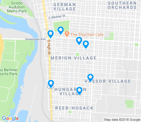 map of Merion Village apartments for rent