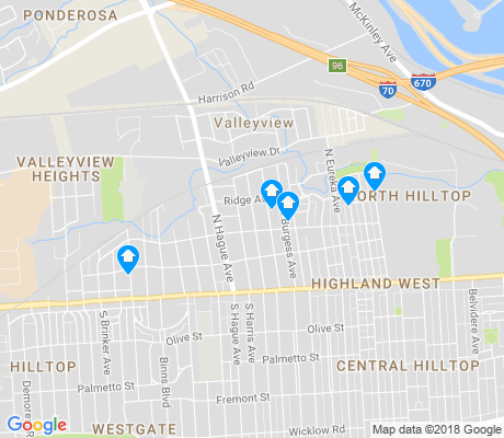 map of North Hilltop apartments for rent