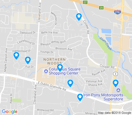 map of Northern Woods apartments for rent