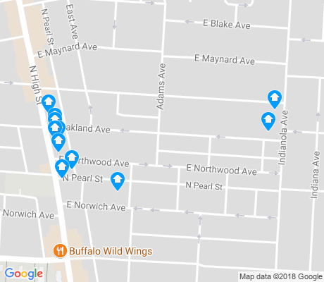 map of Northwood Park apartments for rent