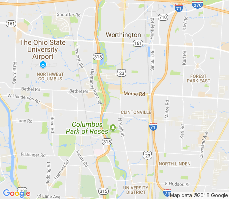 map of Old Beechwold apartments for rent