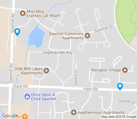 map of Olde Sawmill apartments for rent