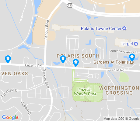map of Polaris South apartments for rent