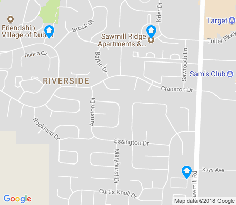 map of Riverside apartments for rent