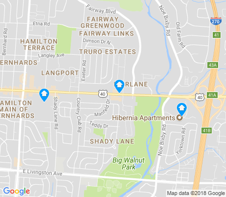 map of Shady Lane apartments for rent