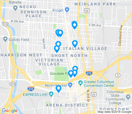 short north columbus ohio map Short North Columbus Apartments For Rent And Rentals Walk Score
