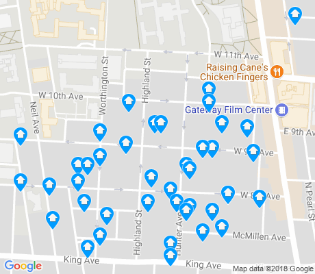 map of South Campus apartments for rent