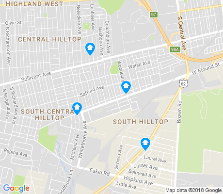 map of South Hilltop apartments for rent