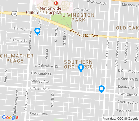 map of Southern Orchards apartments for rent
