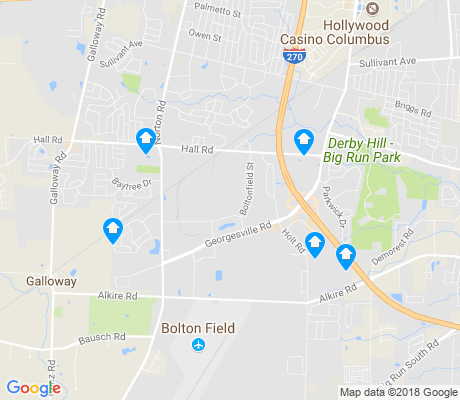 map of Southwest Airport apartments for rent