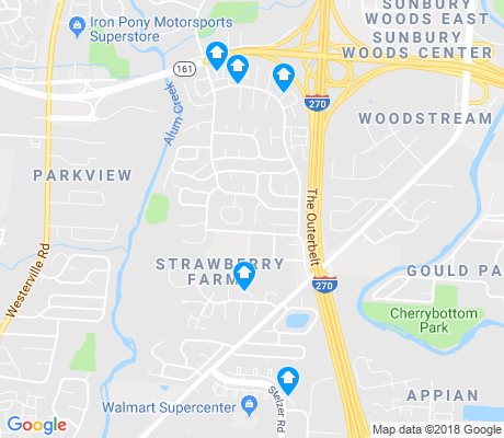 map of Strawberry Farms apartments for rent