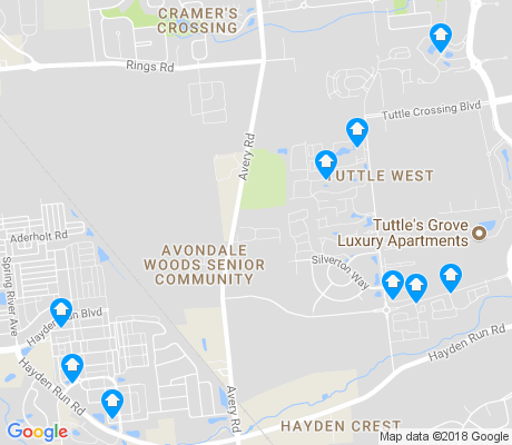 map of Tuttle West apartments for rent