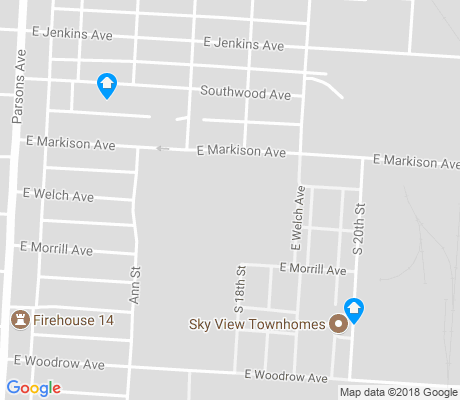 map of Vasser Village apartments for rent