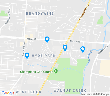 map of Walnut Creek apartments for rent