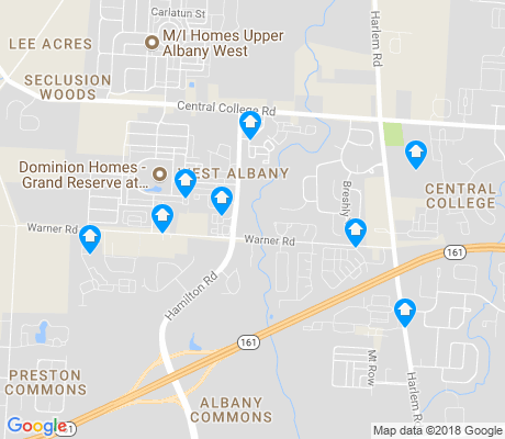 map of West Albany apartments for rent