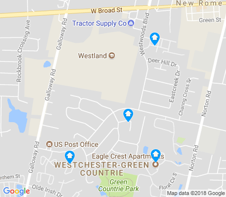 map of Westchester-Green Countrie apartments for rent