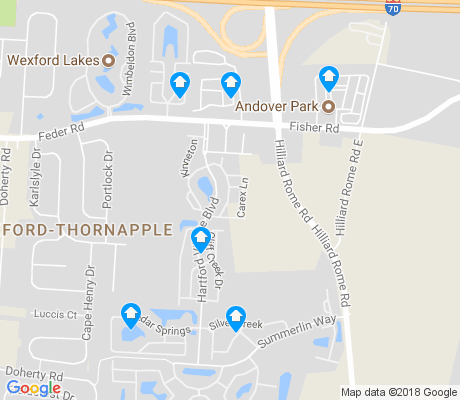 map of Wexford-Thornapple apartments for rent