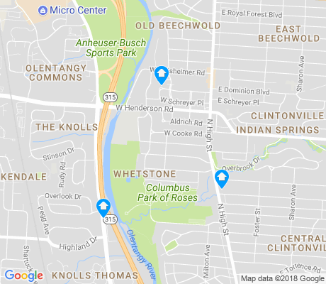 map of Whetstone apartments for rent