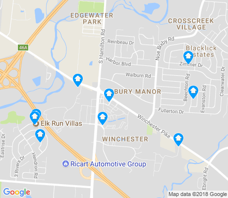 map of Winchester apartments for rent